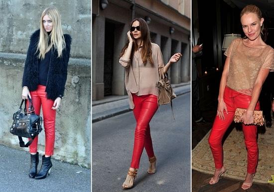 фото красные брюки 2