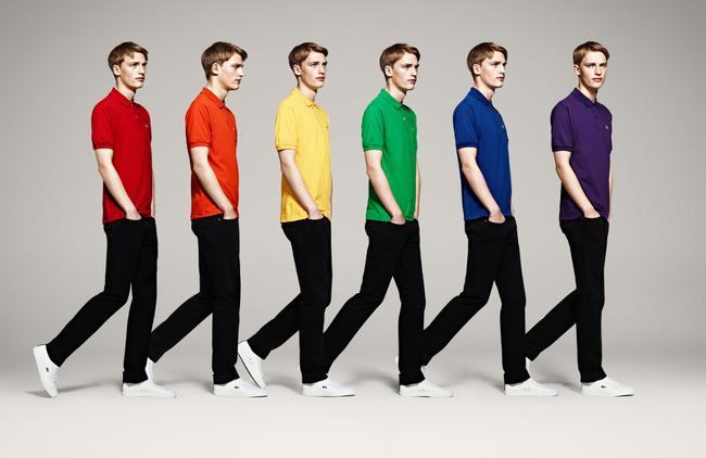 фото цветные поло Lacoste