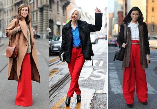 фото красные брюки