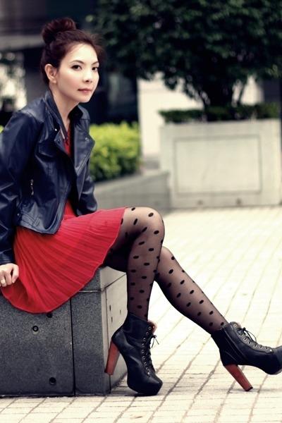 фото красное платье 6