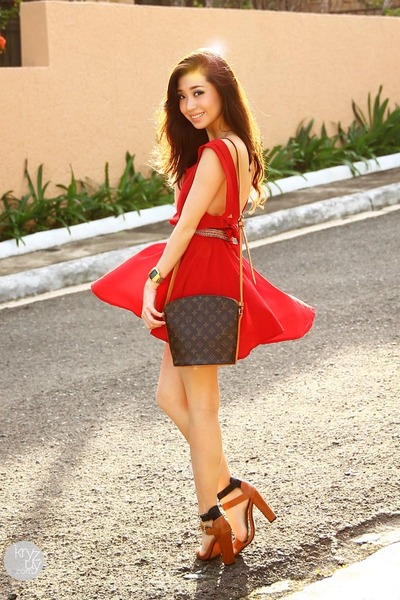 фото красное платье4
