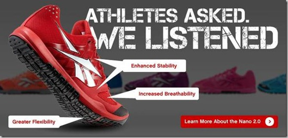Реклама обуви Reebok
