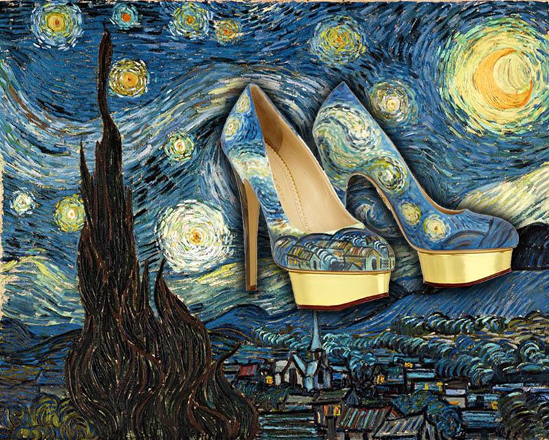 Туфли Ван Гог