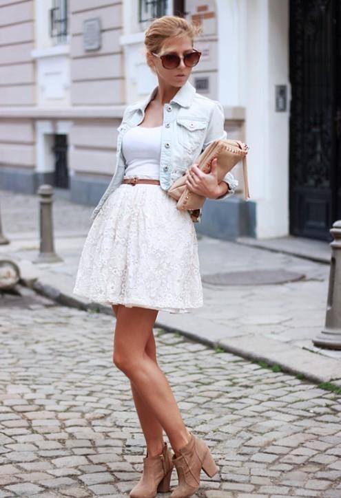 Лук юбка полусолнце