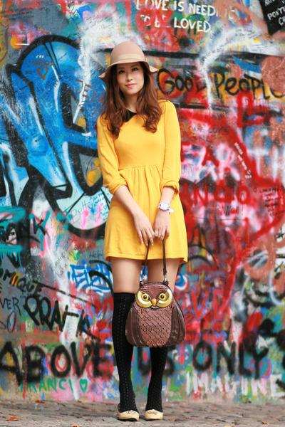 фото желтое платье 5