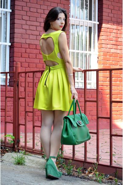 фото желтое платье 4