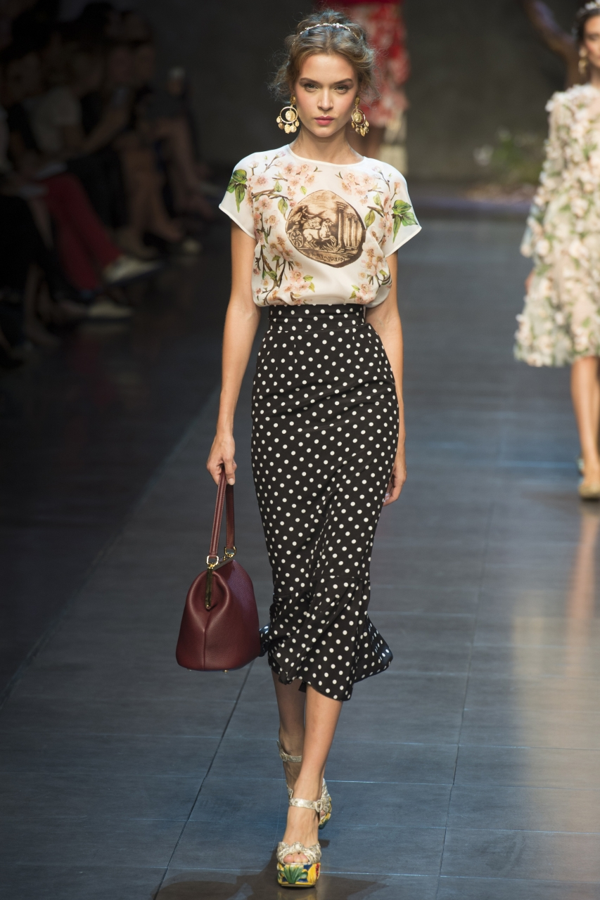 гороховый принт коллекция Dolce Gabbana