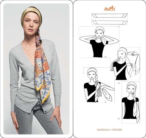 как завязывать платок Hermes