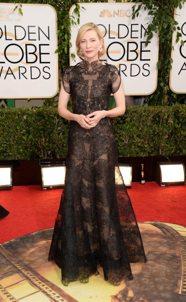 Кейт Бланшетт в платье Armani Privé и серьгах Chopard
