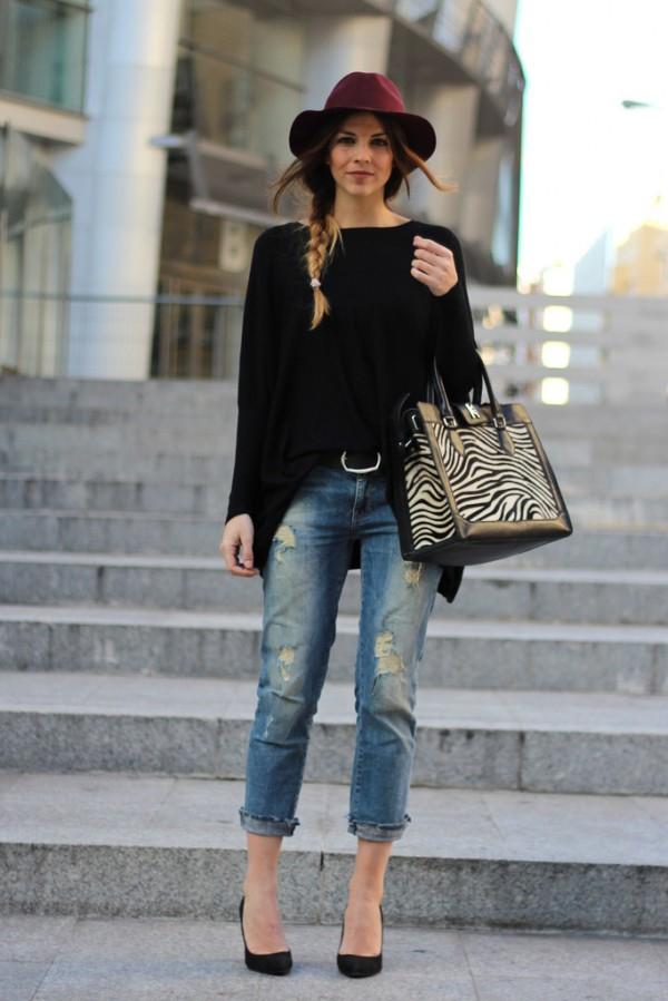 фото джинсы в стиле бойфренд