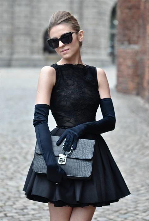 фото черное платье 4