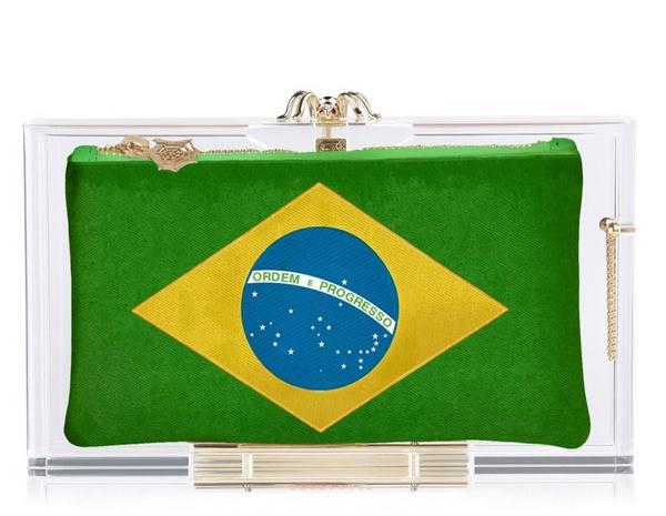 Brazil клатч Charlotte Olympia