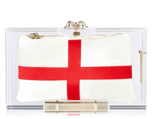 England клатч Charlotte Olympia
